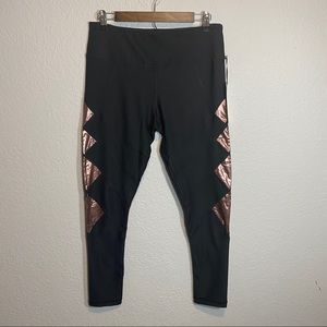 NWT 90 Degree Legging Rose Gold Metallic Accents
